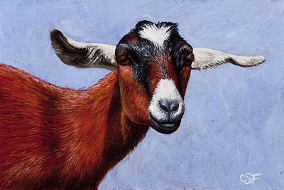 Goat Wall Art - Painting - Nubian Red by Crista Forest
