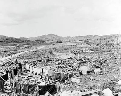 Devastation Photograph - Nuclear Destruction At Nagasaki by Us Navy