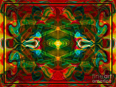 Atomic Mixed Media - Nuclear Emotions Abstract Symbol Artwork By Omaste Witkowski  by Omaste Witkowski