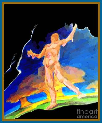 Surrealism Digital Art Rights Managed Images - Nuclear Meltdown Man Royalty-Free Image by John Malone