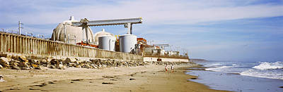 Nuclear Power Plant On The Beach, San Art Print by Panoramic Images