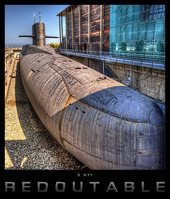 Redoutable Photograph - Nuclear Submarine Framed by Weston Westmoreland