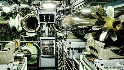 Redoutable Photograph - Nuclear Submarine Torpedo Room by Weston Westmoreland