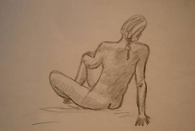 Natural Forces Drawing - Nude Act by Genio GgXpress