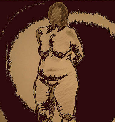 Male Nude Drawing Mixed Media - Nude Acting by Genio GgXpress