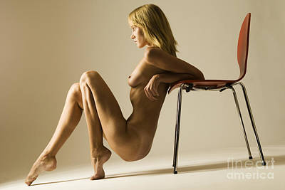 Nudity Photograph - Nude And Chair by John Tisbury