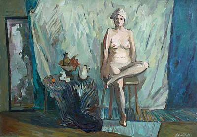 Painting - Nude And Still Life by Juliya Zhukova