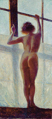 Impressionist Photograph - Nude At The Window, 1905 by Pietro Mengarini