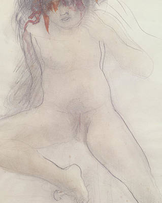Nudes Drawing - Nude by Auguste Rodin