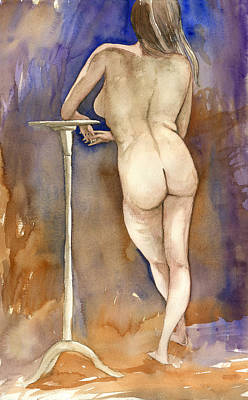 Painting - Nude Back by Brian Meyer