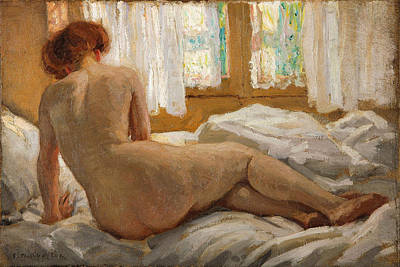 Painting - Nude Bathed In Sunlight by Emanuel Phillips Fox