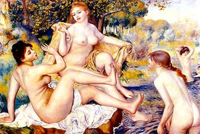Digital Art - Nude Bathers by Pierre-Auguste Renoir