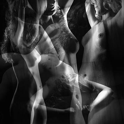 Collage Photograph - Nude Beauty Collage 4 by Jochen Schoenfeld
