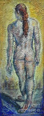 Painting - Nude Brunet by Raija Merila
