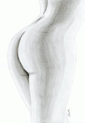Nude Buttock Art Print by Saki Art