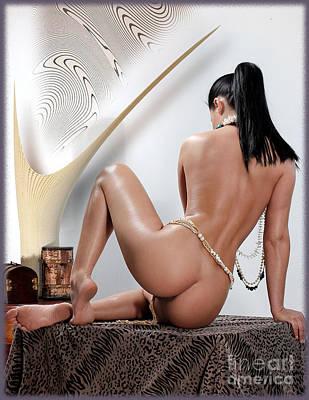 Nude By Ej Art Print by Emil Jianu