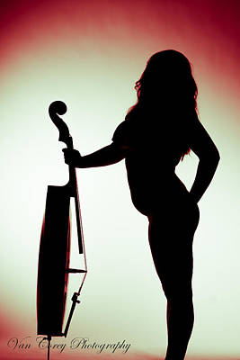 Photograph - Nude Cello by Van Corey