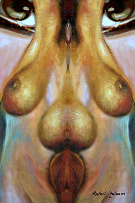Digital Art - Nude Colorado by Rafael Salazar