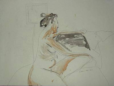 Painting - Nude Contemplating by Esther Newman-Cohen