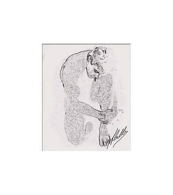 Buying Art Online Digital Art - Nude Draw by Quim Abella