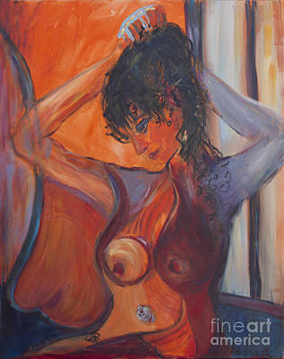 Painting - Nude Dressing by Avonelle Kelsey
