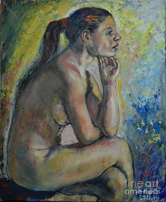 Painting - Nude Eva 2 by Raija Merila