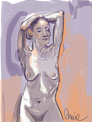 Painting - Nude Facing Me by Amie Ziner