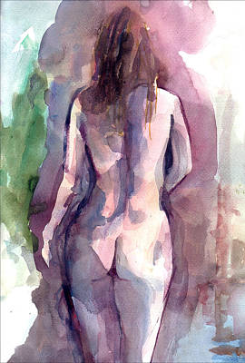 Art Print featuring the painting Nude by Faruk Koksal