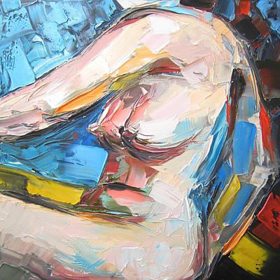 Nude Female Figure Art Print by Solomoon Art Studio