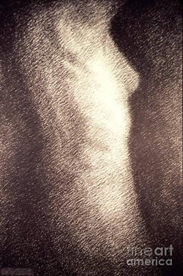 Female Nude Drawing - Nude Female Torso Drawings 4 by Gordon Punt