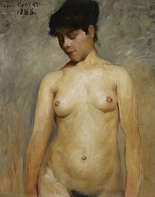 Torso Painting - Nude Girl by Lovis Corinth