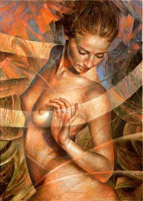 Nudes Painting - Nude Girl7 by Arthur Braginsky