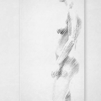 Female Body Mixed Media - Nude by Heike Hultsch