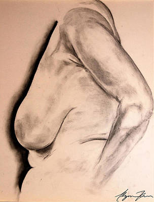 Nude I Art Print by Alyssa Kerr