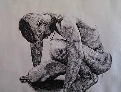 Drawing - Nude II. by Paula Steffensen