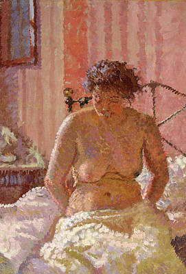 Nude In An Interior, Harold Gilman, 1876-1919 Art Print by Litz Collection