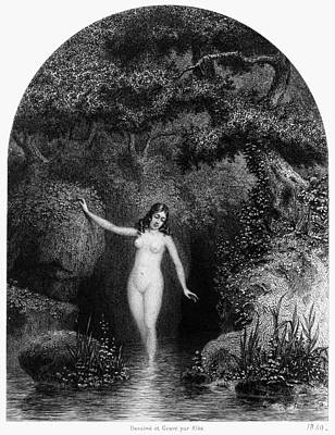 Painting - Nude In Nature, 1849 by Granger