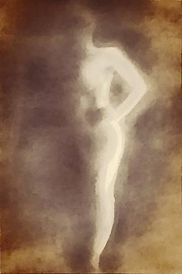 Nude In Shadow 2 Art Print by Victoria Fischer