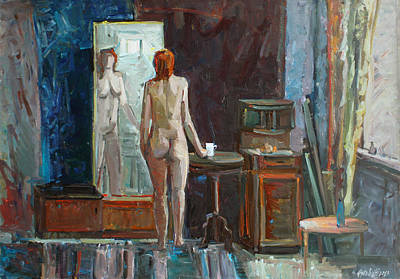 Painting - Nude In The Interior by Juliya Zhukova
