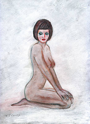 Painting - Nude In The White Room by Tom Conway