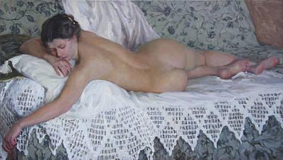Nude Art Print by Korobkin Anatoly