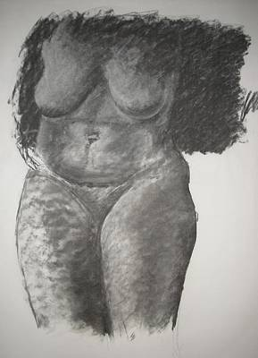 Drawing - Nude Life Study by Michelle Deyna-Hayward
