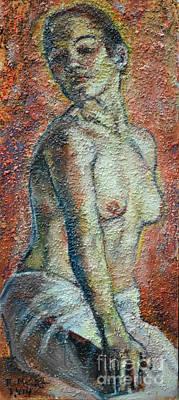 Painting - Nude Lisbeth by Raija Merila