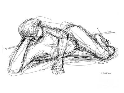 Nude Male Sketches 5 Art Print