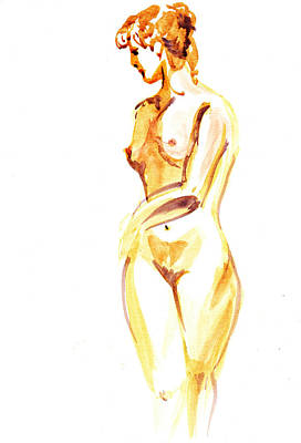 Painting - Nude Model Gesture II by Irina Sztukowski