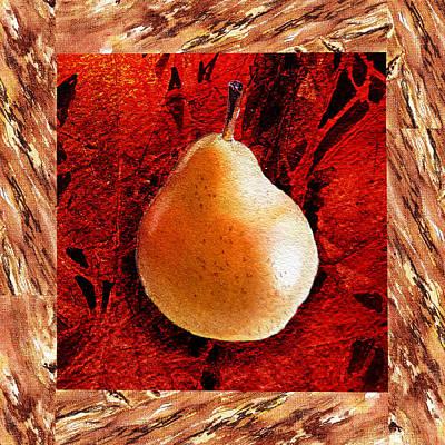 Pears Painting - Nude N Beautiful Pear  by Irina Sztukowski