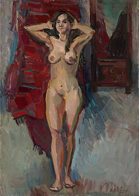 Painting - Nude Near The Mirror by Juliya Zhukova