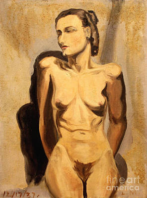Painting - Nude Of Hunger 1937 by Art By Tolpo Collection