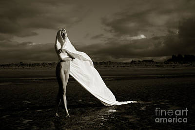 Nudity Photograph - Nude On The Beach by John Tisbury