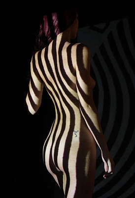Op Art Photograph - Nude- Optical Projection # 8 by Stephen Carver